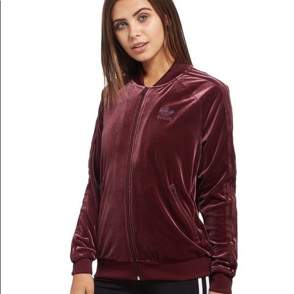 445a1e390765 adidas Jackets   Coats   Originals Velvet 3 Stripe Jacket Nwot ...